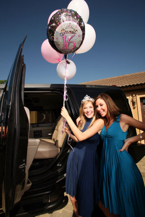Sweet sixteen birthday limousine los angeles los angeles party bus