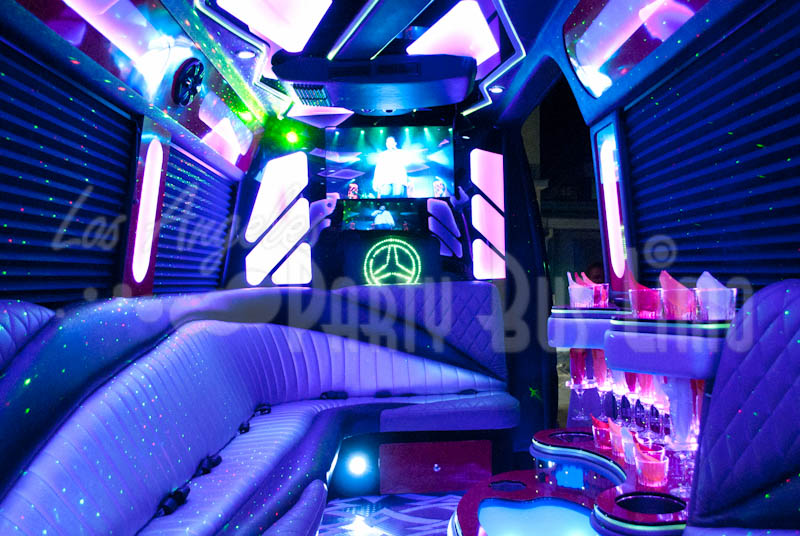 Mercedes Benz Sprinter Los Angeles Party Bus Limo - Mercedes benz limo bus